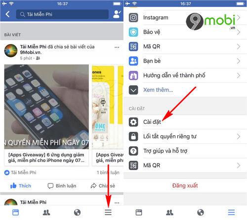 cach tai anh va video chat luong cao len facebook tren dien thoai 4