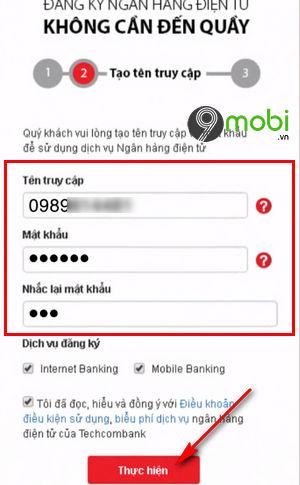 cach dang ky internet banking techcombank tren dien thoai 4