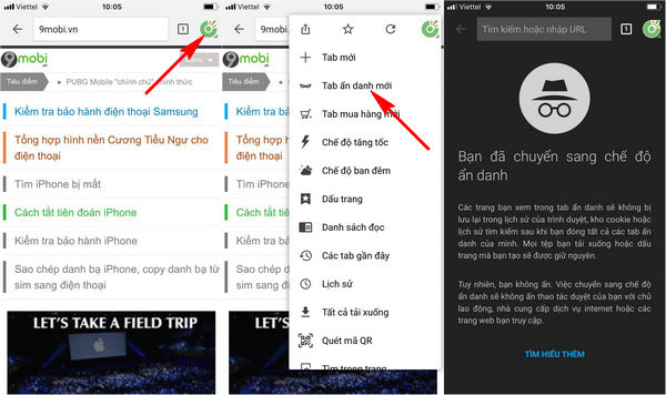 cach vao web an danh cac trinh duyet tren iphone 6