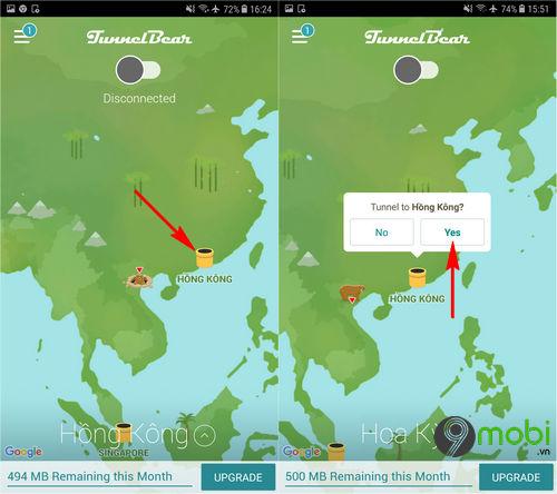 cach fake ip hongkong tren dien thoai android iphone 5