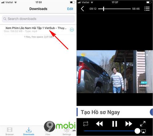 Cách tải phim trên bilutv về iPhone, iPad