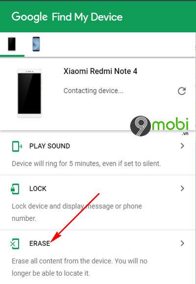 cach xoa du lieu tu xa khi mat dien thoai android iphone 10