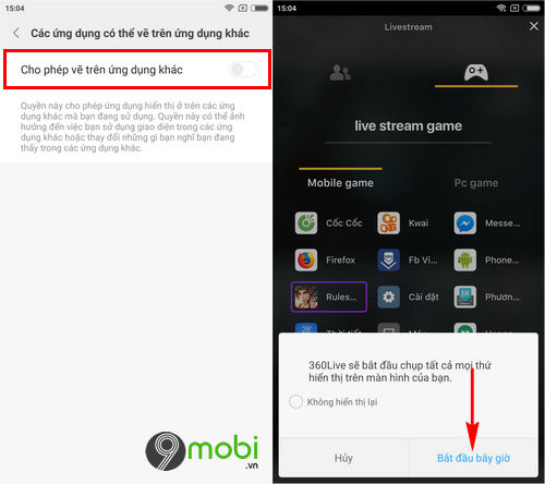 cach live stream pubg mobile ros lien quan mobile bang 360live 5