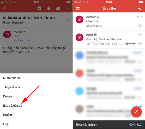 cach chan gmail tren dien thoai iphone android 6