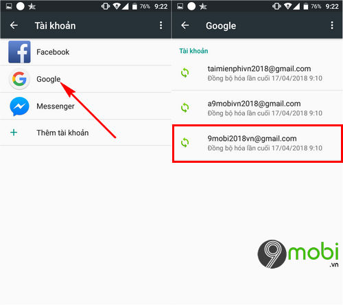 cach dong bo danh ba len gmail dien thoai android 3