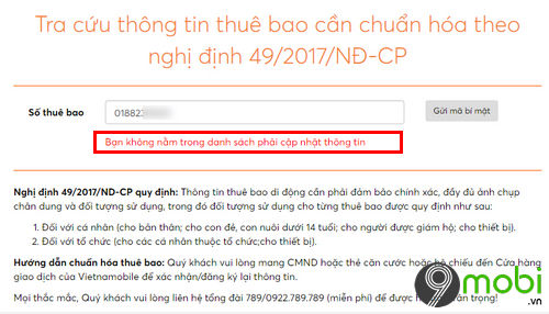 cach bo sung thong tin cho vietnamobile thanh sim 3