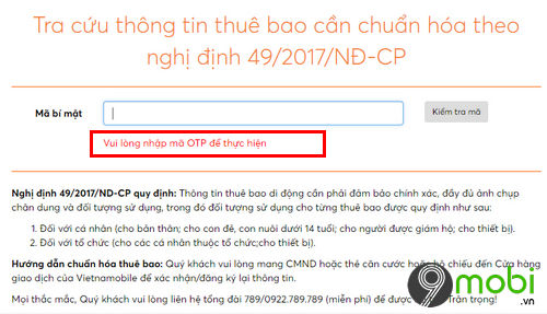 cach bo sung thong tin cho vietnamobile thanh sim 4