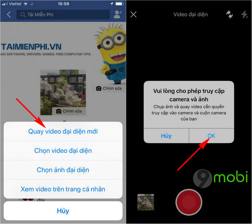 cach dung video lam anh dai dien facebook tren android iphone 5