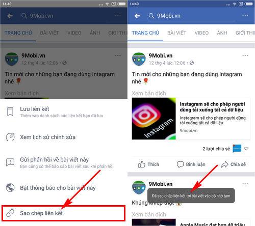 cach lay duong dan facebook tren dien thoai 3