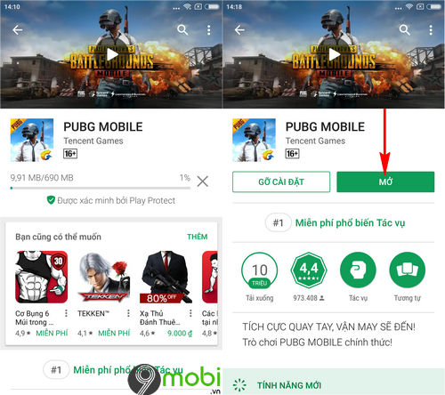 cach cai pubg mobile tren google play 5