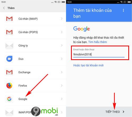 huong dan lay danh ba tu gmail tren may android 3