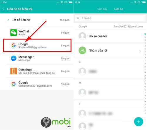 huong dan lay danh ba tu gmail tren may android 7
