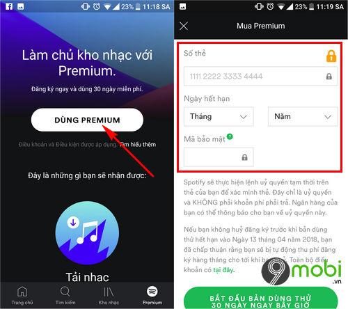 cach tao tai khoan spotify premium bang the master ao 3