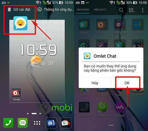 cach xoa ung dung mac dinh tren android 8