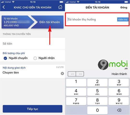 cach chuyen tien ngan hang bidv smart banking tren dien thoai 3