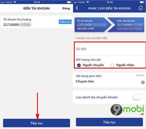 cach chuyen tien ngan hang bidv smart banking tren dien thoai 4