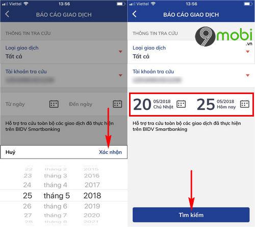 kiem tra so du tai khoan tren app bidv smart banking lich su giao dich 5