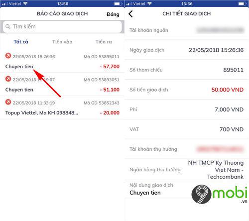 kiem tra so du tai khoan tren app bidv smart banking lich su giao dich 6