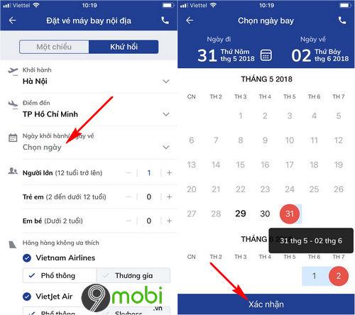 dat ve may bay bang ung dung bidv smart banking 5