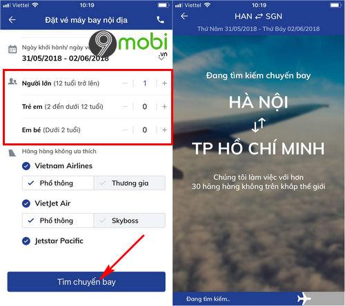 dat ve may bay bang ung dung bidv smart banking 6