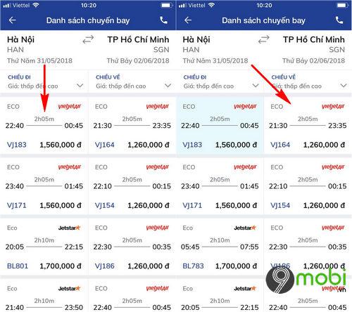 dat ve may bay bang ung dung bidv smart banking 7