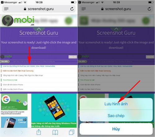 huong dan chup toan bo man hinh trang web tren android iphone 6