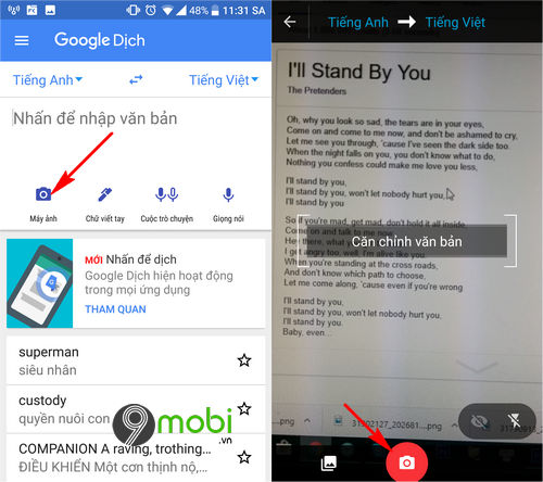 cach su dung google dich tren android va iphone 4