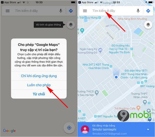 huong dan bat dan duong bang giong noi tren google maps 7