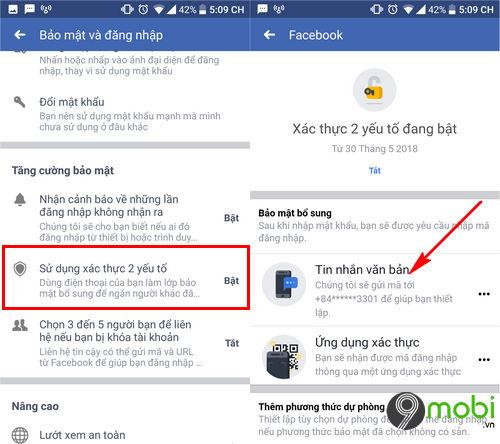 cach doi so dien thoai xac thuc 2 yeu to tren facebook 4