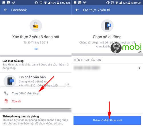 cach doi so dien thoai xac thuc 2 yeu to tren facebook 5