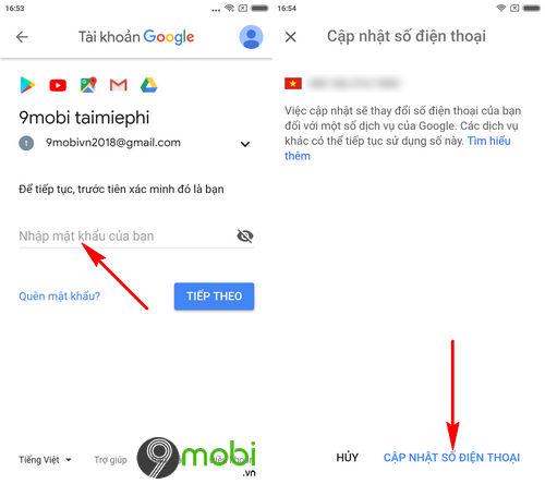 cach doi so dien thoai gmail trong app gmail tren di dong 6