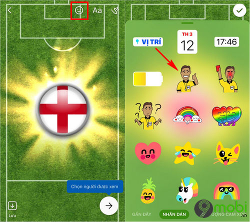 cach them sticker co world cup facebook messenger 5