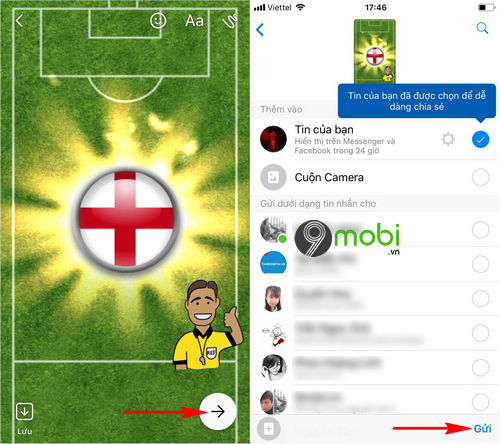 cach them sticker co world cup facebook messenger 6