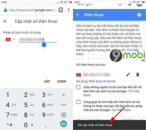 cach doi so dien thoai gmail tren android iphone 6