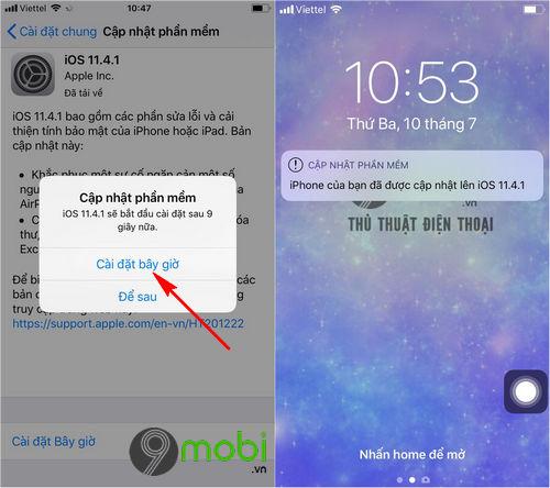 cach cap nhat ios 11 4 1 cho iphone ipad bang itunes va ota 5