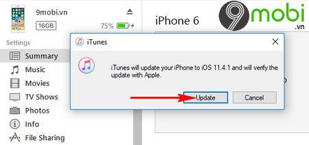 cach cap nhat ios 11 4 1 cho iphone ipad bang itunes va ota 9