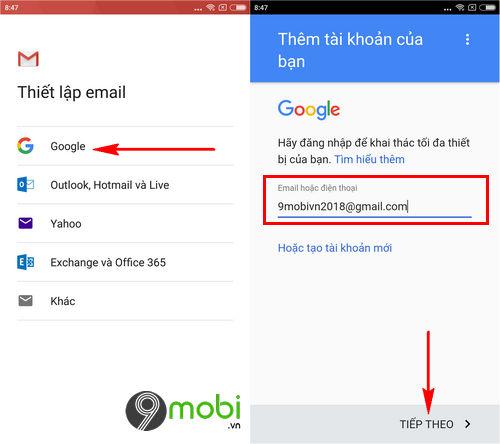 cach su dung 2 tai khoan gmail tren dien thoai android 4