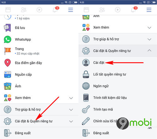 cach thoat nick facebook messenger tren dien thoai iphone android 3