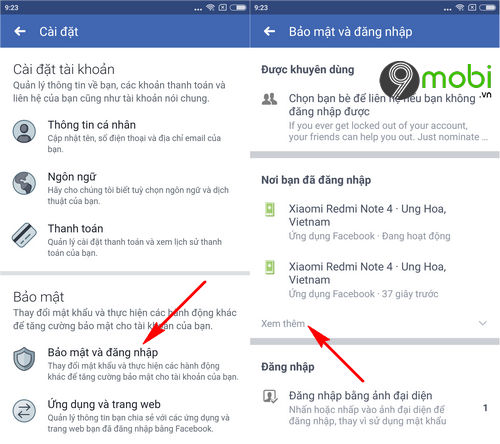 cach thoat nick facebook messenger tren dien thoai iphone android 4