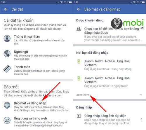 cach thoat nick facebook messenger tren dien thoai iphone android 4