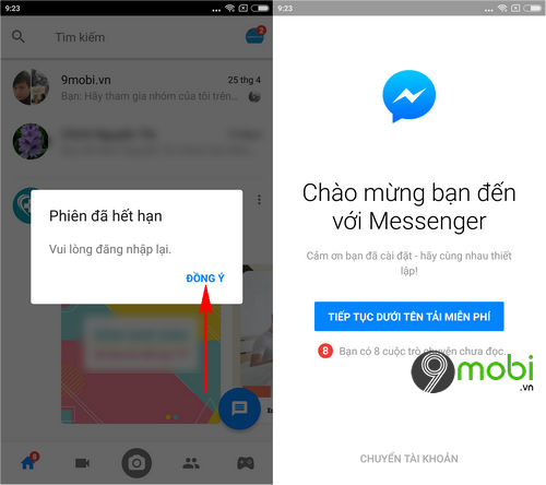 cach thoat nick facebook messenger tren dien thoai iphone android 6