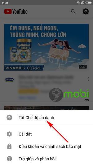cach xem video youtube an danh tren dien thoai android 6
