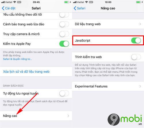 Cách khắc phục khi Safari bị chậm trên iPhone, iPad