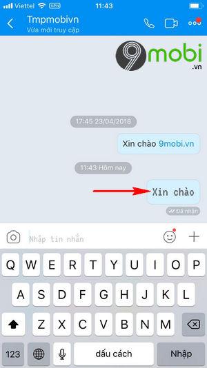 cach doi font chu co chu zalo khi chat tren iphone 6