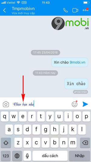 cach doi font chu co chu zalo khi chat tren iphone 7