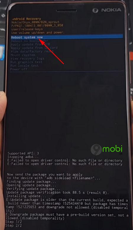cach ha android 9 p xuong ban 8 1 10