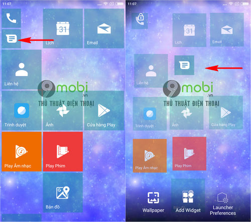 cach cai giao dien windows 10 mobile tren dien thoai android bang launcher 10 4