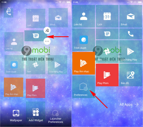 cach cai giao dien windows 10 mobile tren dien thoai android bang launcher 10 6