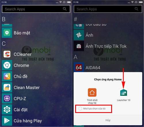 cach cai giao dien windows 10 mobile tren dien thoai android bang launcher 10 8