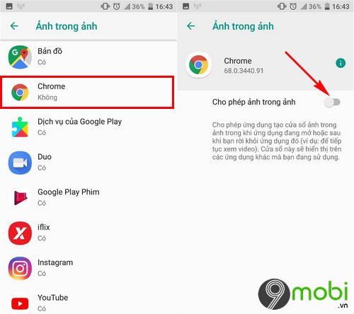 cach bat va su dung picture in picture tren android oreo 5